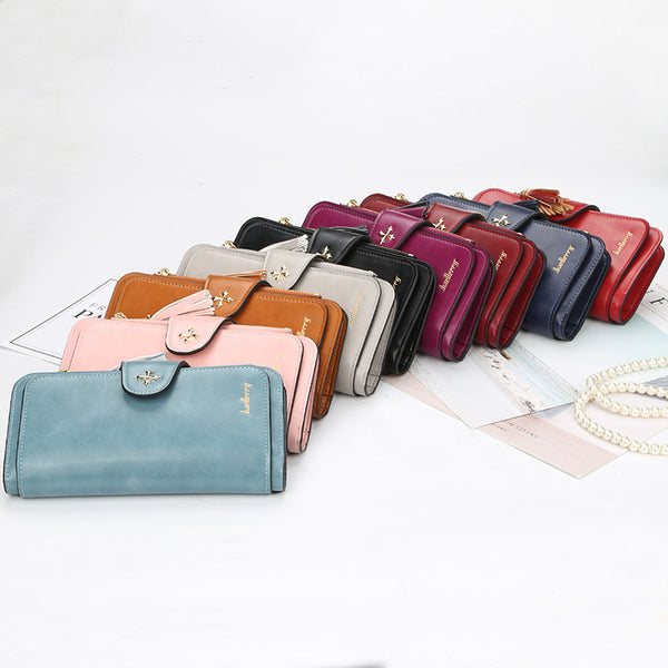 Women Tassel Long Elegant Wallet