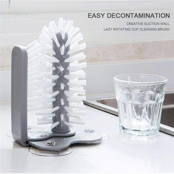 Lazy Double-Sided Bristle Cup Cleaner