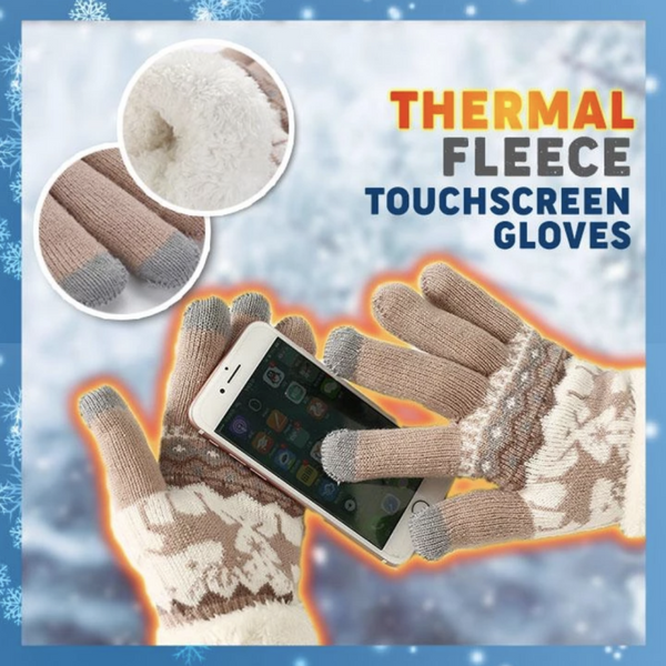 comfortable warm Fleece Touchscreen Gloves