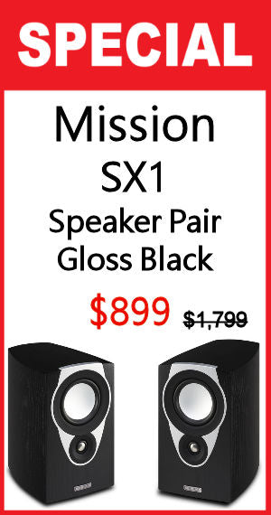 MISSION SX1 Bookshelf Standmount Speaker Pair- Gloss Black