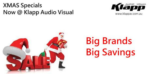 Christmas Sale Klapp Audio Visual