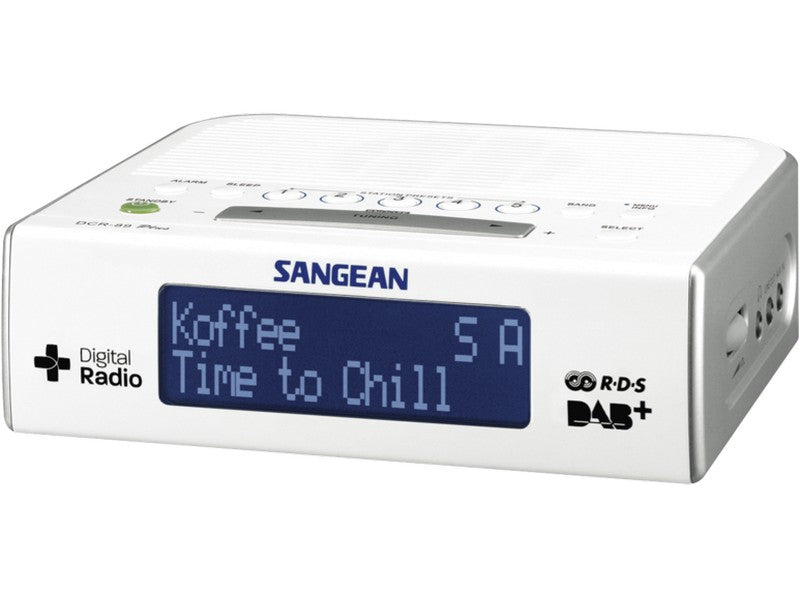 DCR-89 DAB+ FM RDS Digital Alarm Clock Radio White