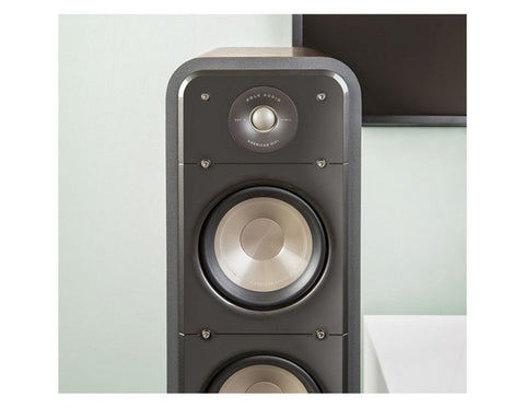 S55 HiFi Home Theatre Floorstanding Tower Speaker Pair Brown