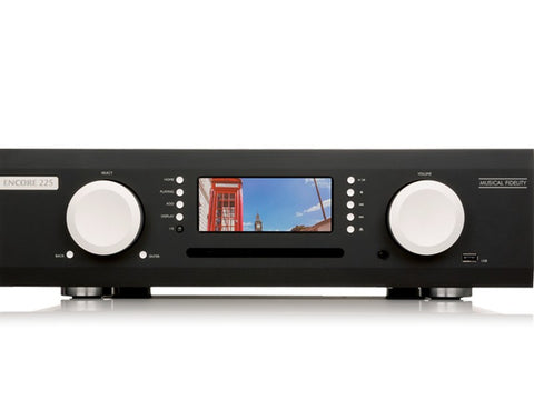 M6 Encore 225 Integrated Amplifier Streaming Music System Black