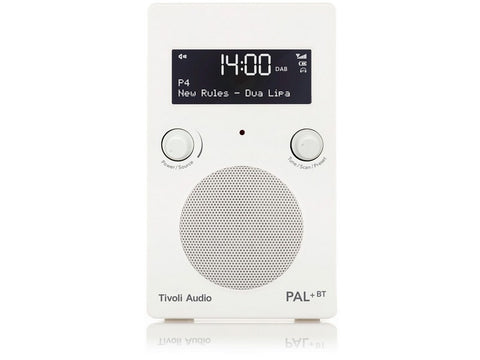 PAL+ BT Gen2 DAB/DAB+/FM Portable Radio with Bluetooth White/White