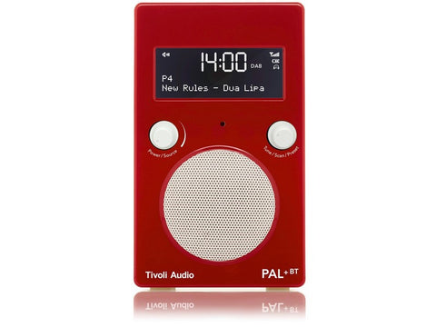 PAL+ BT Gen2 DAB/DAB+/FM Portable Radio with Bluetooth Red/White