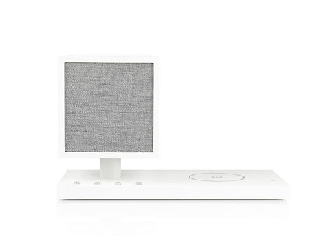 REVIVE Bluetooth Speaker with Wireless Charging Pad and Lamp White