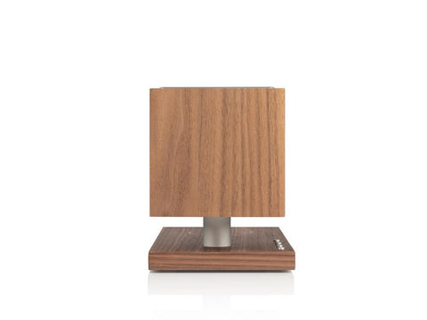 REVIVE Bluetooth Speaker with Wireless Charging Pad and Lamp Walnut