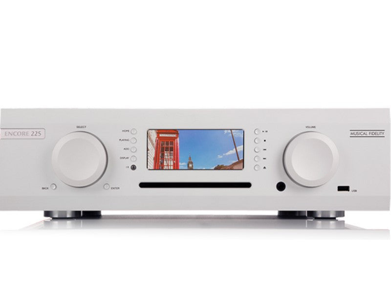 M6 Encore 225 Integrated Amplifier Streaming Music System Silver