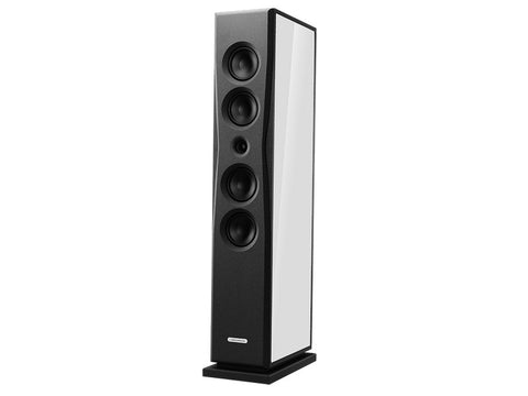 Overture O205F Floorstanding Speaker Pair High Gloss Cream White