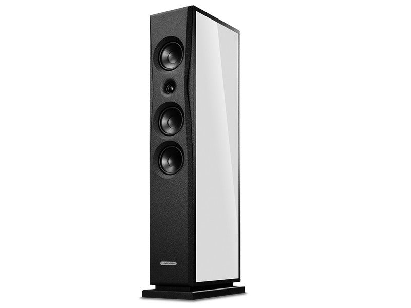 OVERTURE O204F Floorstanding Speaker Pair Gloss Textured White