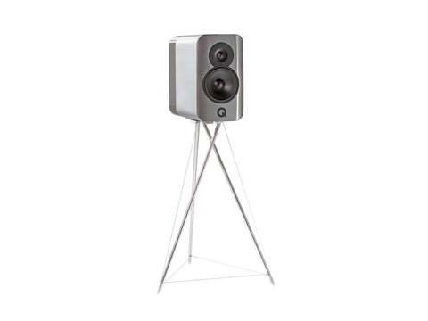 Concept 300 Standmount Speaker Pair Silver with Stands