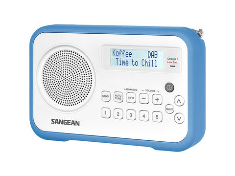 DPR-67 White Portable Radio DAB+ FM Blue Trim