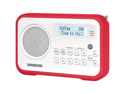 DPR-67 White Portable Radio DAB+ FM Red Trim