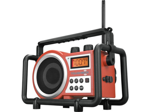 TOUBOXR ToughBox AM / FM Utility Portable Radio Red