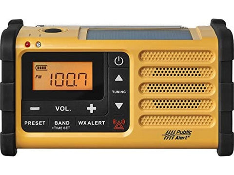 MMR-88 AM/FM Handcrank USB Solar Emergency Alert Radio Yellow