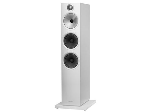 603 Floorstanding Speaker Pair Matte White - New 600 Series
