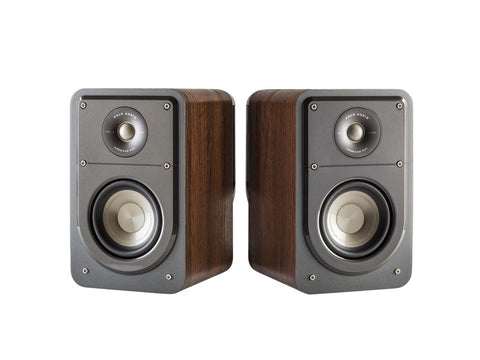 S15 Compact Bookshelf Speaker Pair Brown