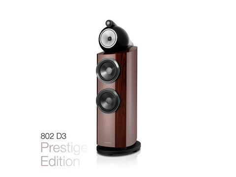 Prestige Edition 802 D3 High-gloss Santos Rosewood Speaker Pair