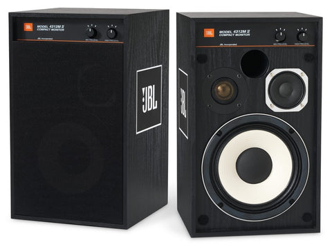 4312M II Bookshelf Speaker Pair Black