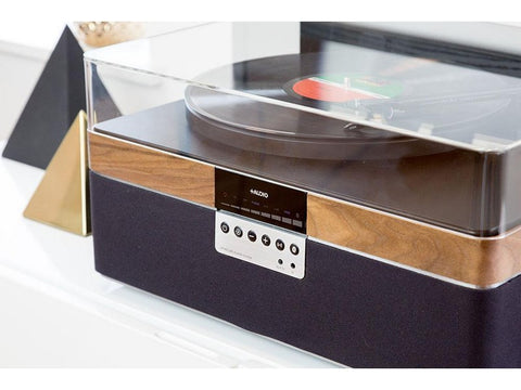 THE+RECORD PLAYER CARBON Wireless Bluetooth Streaming Walnut