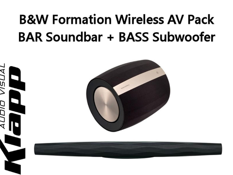 Formation Wireless AV Pack BAR Soundbar + BASS Subwoofer
