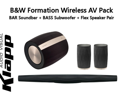 Formation Wireless Cinema Pack BAR Soundbar + BASS Subwoofer + Flex Speaker Pair