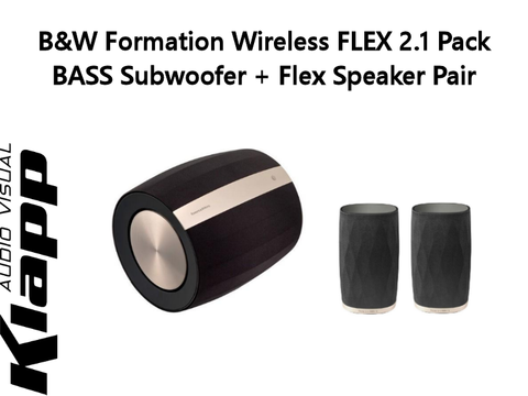 Formation Wireless FLEX 2.1 Pack BASS Subwoofer + Flex Speaker Pair