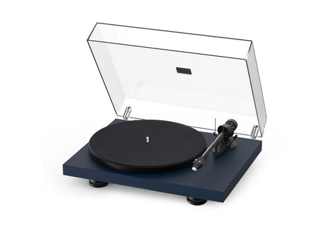 Debut Carbon Evo Turntable Satin Steel Blue with Ortofon 2M Red Cartridge