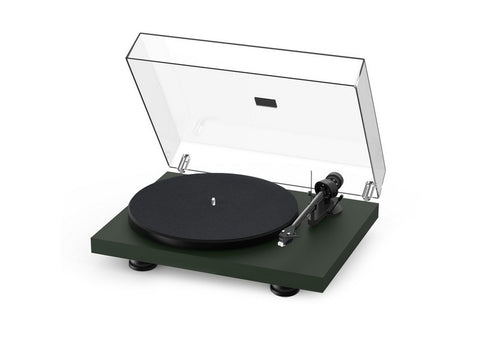 Debut Carbon Evo Turntable Satin Fir Green with Ortofon 2M Red Cartridge