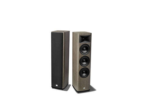 "HDI-3600 2.5 way, 3 x 6.5"" Floor Standing Loudspeaker Grey Oak Pair"