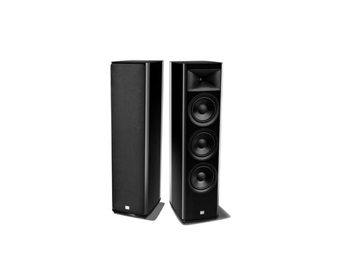 "HDI-3800 2.5 way, 3 x 8"" Floor Standing Loudspeaker Black Gloss Pair"