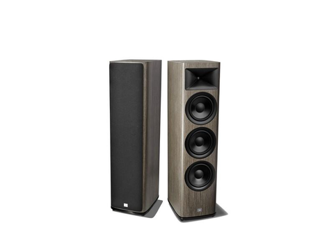 "HDI-3800 2.5 way, 3 x 8"" Floor Standing Loudspeaker Grey Oak Pair"