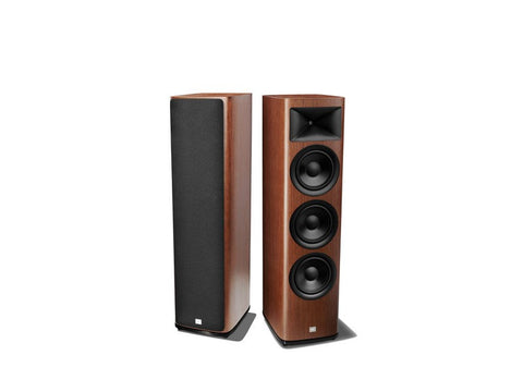 "HDI-3800 2.5 way, 3 x 8"" Floor Standing Loudspeaker Walnut Pair"