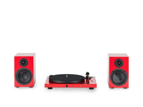 Pro-Ject Juke Box E & Speaker Box 5 Hi-Fi Set Red