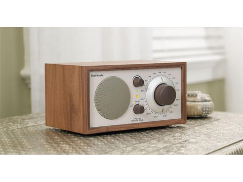 Model One Classic AM/FM Table Radio Walnut Beige
