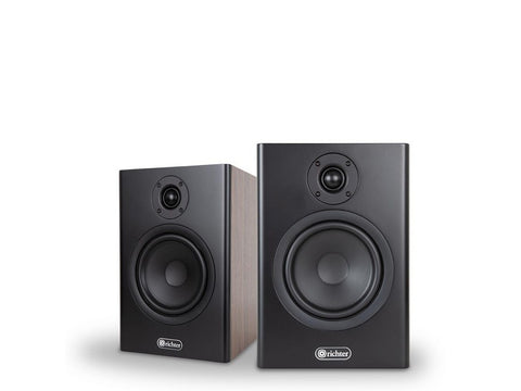 Merlin S6 2-way Vented Bookshelf Speaker Pair Walnut