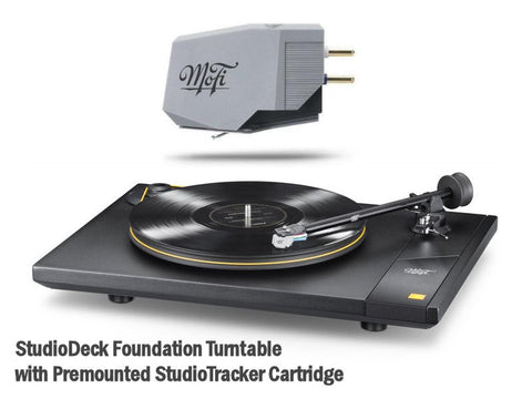StudioDeck Foundation Turntable + Premounted StudioTracker Cartridge