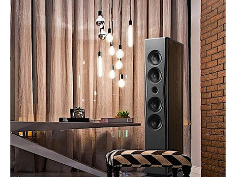 Overture O205F Floorstanding Speaker Pair High Gloss Black