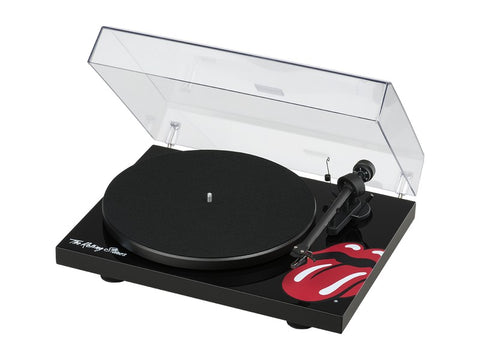 The Rolling Stones Debut III Special Edition Black Turntable + Ortofon OM10