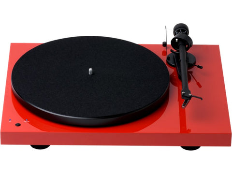 Debut RecordMaster Turntable Red with Ortofon OM5e Cartridge