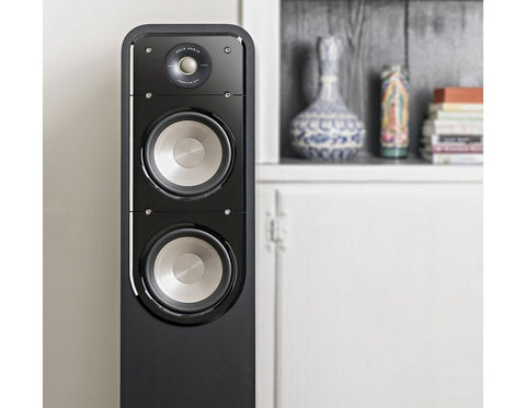 S50 HiFi Home Theatre Floorstanding Tower Speaker Pair Black