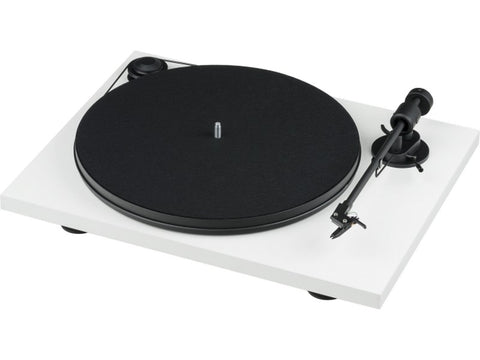 Primary E Phono Turntable White with Ortofon OM Cartridge