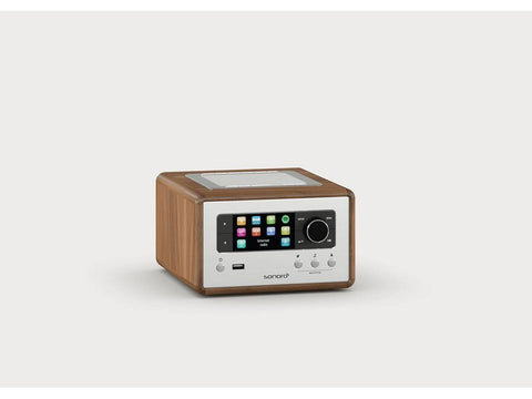 RELAX compact design radio with FM/DAB+ Walnut