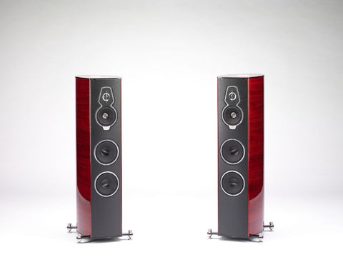 Serafino Tradition Red Violin Floorstanding Loudspeakers