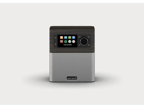STREAM smart compact design radio with FM/DAB+ Bog Oak Silver