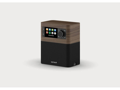 STREAM smart compact design radio with FM/DAB+ Walnut Black