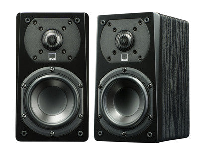 Prime Satellite Speaker Pair - Black Oak
