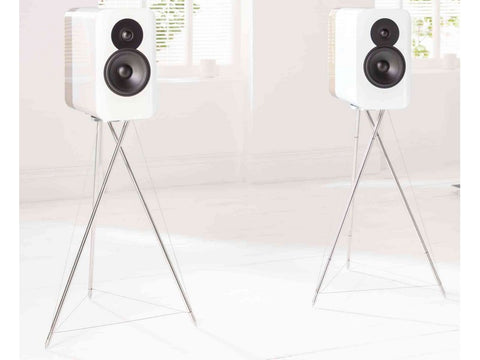 Concept 300 Standmount Speaker Pair White with Stands