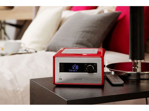 Radio Bluetooth DAB+ with USB Playback Red